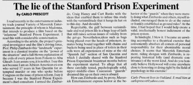 Эксперимент Зимбардо: идеологическая обработка обществом