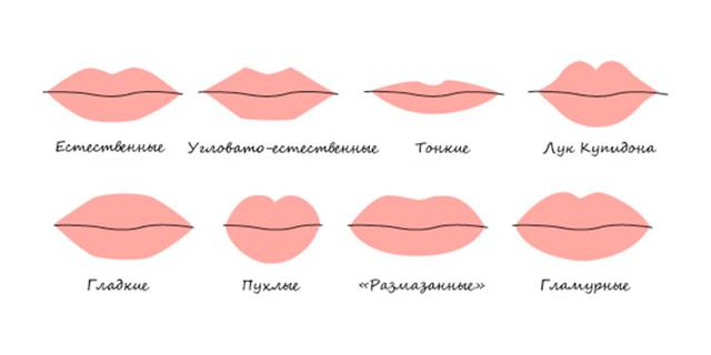 Характер по форме губ: 11 очевидных разновидностей
